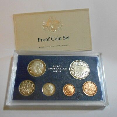 1983 Royal Australian Mint Proof Coin Set - 6 Coins Sealed in Clear Display New