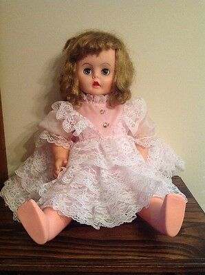 "22"" Vintage Sleeping Eyes Doll No Visible Stamp Unknown Make"