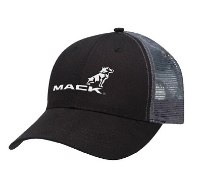 Mack Truck Black and charcoal trucker cap with mesh backing