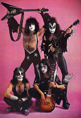 """Kiss Band Pink Fridge Toolbox Magnet Collectible Size 2.5"""" x 3.5"""""""