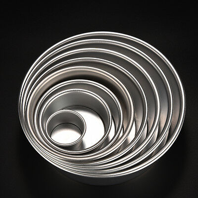 2/4/5/6/7/8/9/10 Cake Baking Mould Aluminum Alloy Round Pan Bakeware DIY Tool LJ