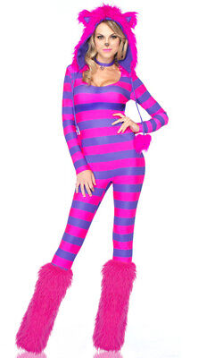 Leg Avenue 3 PC Cheshire Cat Halloween Costume (Slight Imperfections)