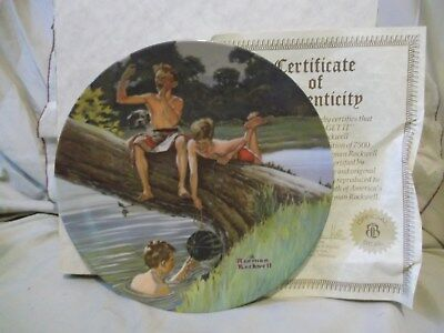 Come and Get It 2nd series Hoyle Products Norman Rockwell collector plate