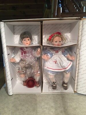 The Danbury Mint Jack And Jill  Large Dolls by Susan Wakeen.