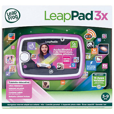 LeapFrog LeapPad 3 Kids Learning Wi-Fi Tablet Rechargeable Battery Pink Games