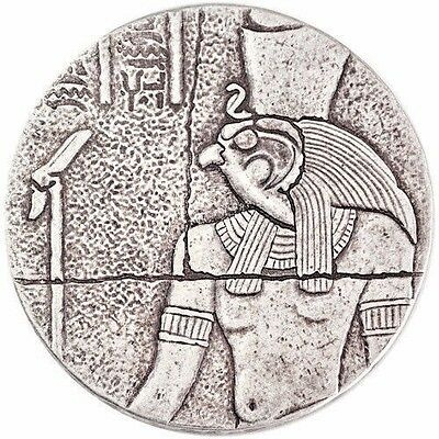 2016 2 oz Republic of Chad Egyptian Relic Series Horus Silver Coin Antiqued BU