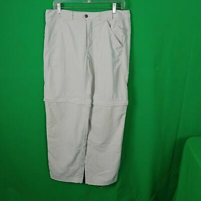 Columbia Titanium Women's Convertible Pants Zip Off Shorts Size 8 Beige
