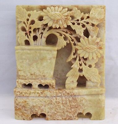 Marble Stone Carving - Florals On Wall