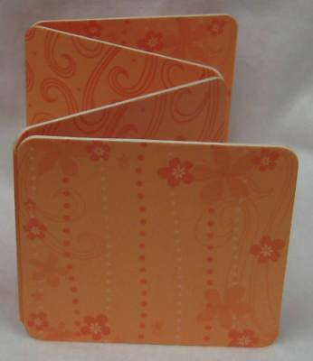 Mini 8 Page Scrapbooking Album Chunky Book To Add Photos & Embellishments Orange