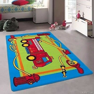Kids Rug Area Rugs Boys Room Bedroom Play Playroom Nursery Child Toddler Carpet