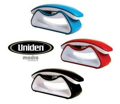 Uniden Modro Dect Blue Red Black Retro-Style Digital Cordless Phone New In Box