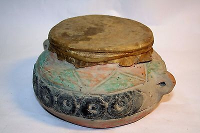 Very Beautiful Ceramic Drum From North Africa Or South Italy