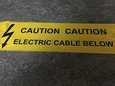 30m LENGTH CAUTION ELECTRIC CABLE BELOW WARNING TAPE