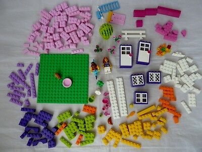 LEGO - Pink Carry Case/ Storage Box with spare lego
