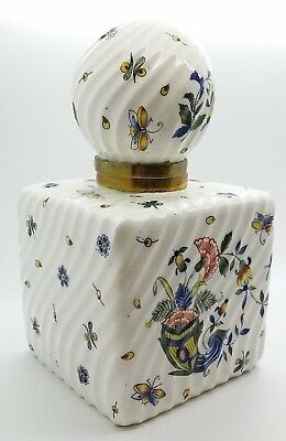 Antique Inkwell, Large Size, Early 19thc Ceramic. Original Condition French.
