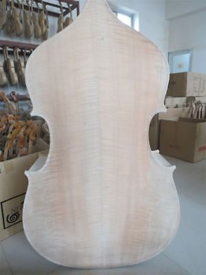 Hand carved solid wood white/unfinished 3/4 upright bass,spurce top/maple back