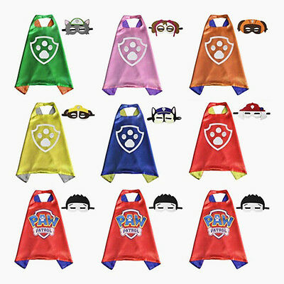 Fun Paw-Patrol Figures Dog Cape Mask Set Kids Boy Girl Cosplay Costume Party Toy