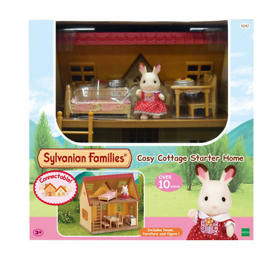 Sylvanian Families Cosy Cottage Dolls House Starter Home Set Rabbit Girl Bed Toy