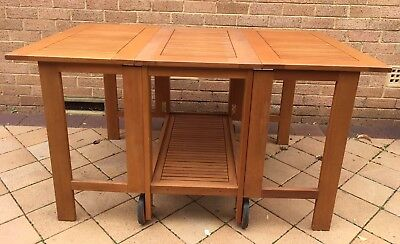 outdoor wooden foldable table