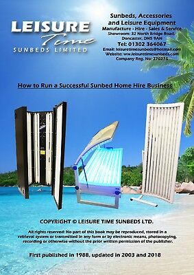 Business Start Up Opportunity - Sunbed Home Hire Business Booklet