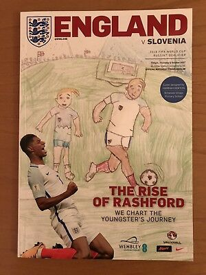 England v Slovenia Official World Cup Qualifier Programme