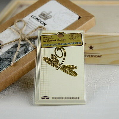 Bookmark Unique Dragonfly 18K Gold Plated Bookmarks Gift !!