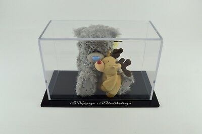 Presentation / Display Case / Box - Clear with Black base Personalised - Acrylic