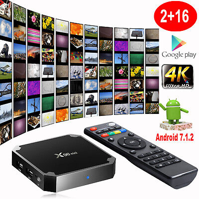 X96MINI 2+16G Android 7.1.2 Quad Core WIFI Smart TV BOX HDMI 4K Media Player DE