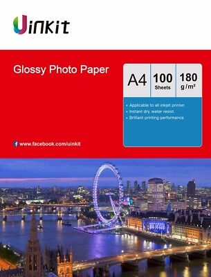 Photo Paper A4 Inkjet Paper High Glossy Photography Printing - 100 Sheets Uinkit