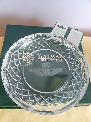 Galway Irish Crystal THE CLADDAGH RING Dish / Bowl Boxed