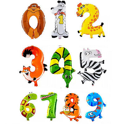 "1 x Tier Nummer Ballon Luft Folie Ballon Happy Birthday Party Favor 16 ""A321 RA"