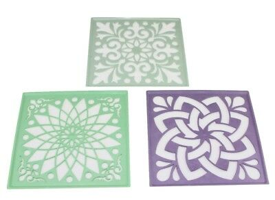 3pc Rangoli Stencils powder color stencils sand art floor decoration Diwali