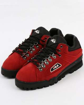 Fila Vintage Trailblazer Suede Boots in Red - 80s casual hiking 90s rave retro