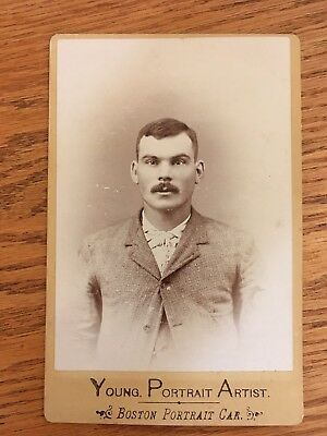 Cabinet Photo 1800's 1900's Rugged Man Moustache