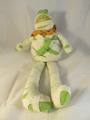 Halloween Decor Sitting Mummy Plush Doll Decoration White Green Holiday Decor