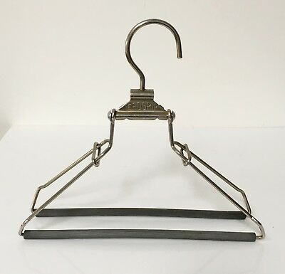 Vintage Retro Erogrip Clothes Coat Hanger - Adjustable Clamp Made in England