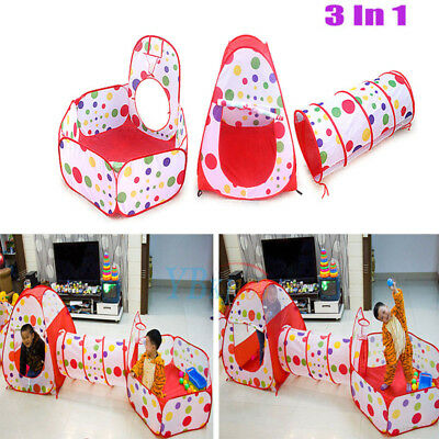 Kids Baby Play Tent Tunnel Ball Pool Pop Up Design Playhouse Toy Gift Odor-free