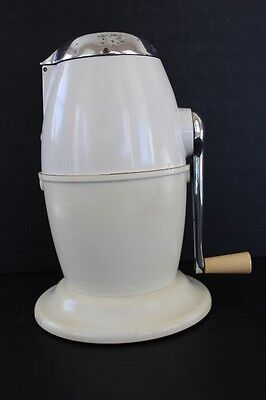 Vintage Mid-Century RIVAL Ice-O-Mat Bucketeer White Ice Crusher Model 480 USA