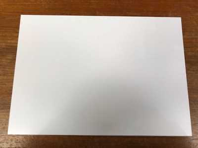 A4 Gloss White PVC Sheets 0.42mm Model Making, Art, Craft