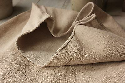 Antique vintage GRAIN SACK feedsack plain hemp hemp warm tone WASHED linen