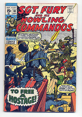 Sgt. Fury and His Howling Commandos #80 G/VG 1970 ~ Marvel Comic Book