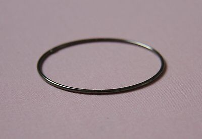 925 Sterling Silver Ruthenium Plated Bangle
