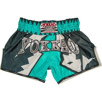 Yokkao Carbonfit Frost Teal Muay Thai Boxing Shorts