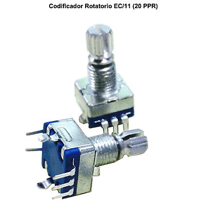 2 x CODIFICADOR ROTATORIO CON SWITCH EJE PULSADOR EC/11 - ROTARY ENCODER