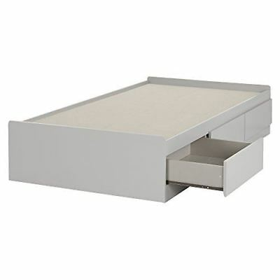 """South Shore Furniture 10578 39"""" Cookie Mates Bed with 3 Drawers, Twin, Soft Gray"""