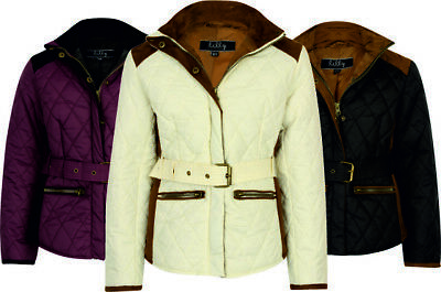 Girls Coat Riding Jacket Equestrian Horse Padded Winter Warm Children Kids Belt