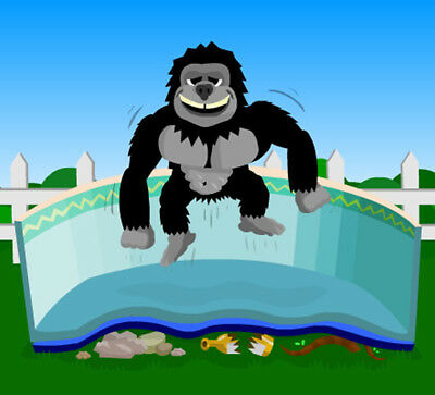 15' X 30' Oval Gorilla Floor Pad For Above Ground Swimming Pools