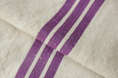GRAIN SACK grainsack linen bag PURPLE Fustian cotton linen woven bag c 1930's
