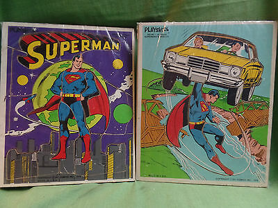 Vintage 1976  Superman Puzzles Set of 2