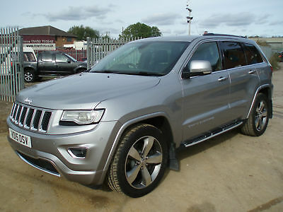 Jeep Grand Cherokee 3.0CRD (247bhp) 4X4 Auto Overland DAMAGED REPAIRABLE SALVAGE
